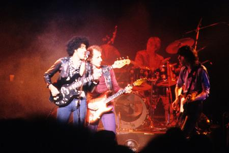 Phil Lynott with Dire Straits
