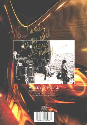 Grand Slam WHISKEY IN THE JAR cd-single autographed by MARK STANWAY